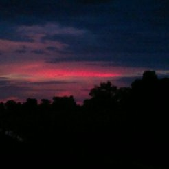 A crappy lens can't accurately show the wonders of every distinct evening sky in the countryside.