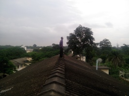 I assure you, I am not always standing close to the edge, four floors above the ground, sober and contemplative!!!