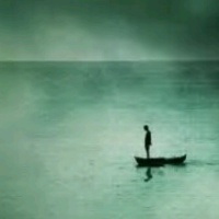 The lonesome one -totally at peace with himself or numb with loneliness...